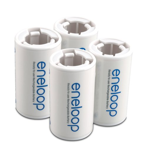 eneloop SEC-CSPACER4PK C Size Spacers for use with AA battery cells