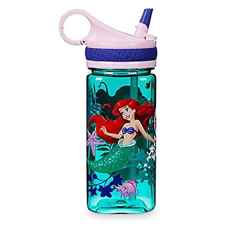 Princess Drink Bottle - Disney Store Ariel Little Mermaid Plastic Drink Water Bottle New for 2017