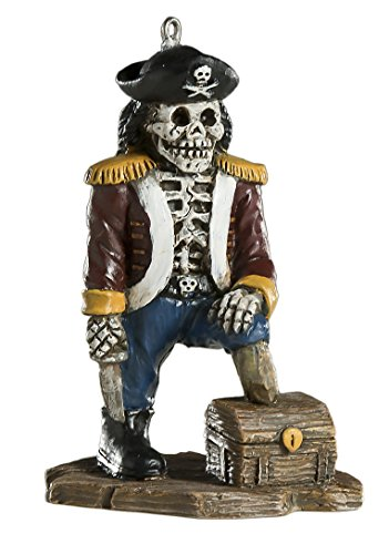 Skeleton Pirate Ornament - Scary Prop and Decoration for Halloween, Christmas, Parties, and Events - By - Pirate Hanging Prop