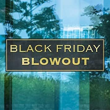 Classic Gold Window Cling Black Friday Blowout CGSignLab 5-Pack 36x12