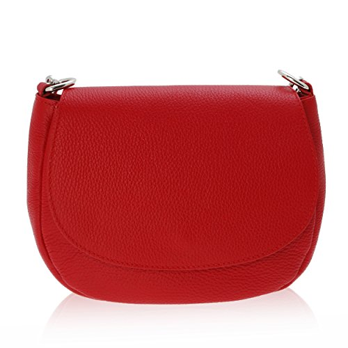 Bolso Bandolera para Mujer Made in Florence Piel Genuina 23*18*7 cm Rojo