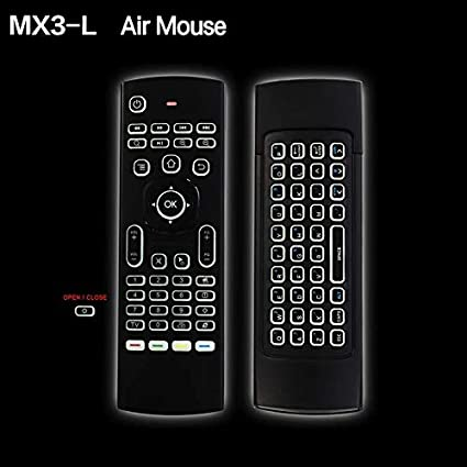 72e0e502507 Amazon.in: Buy RKTECH MX3-L Backlit Version Air Mouse Remote Control with  2.4GHz RF Wireless Keyboard for Android TV Box (Multicolour) Online at Low  Prices ...