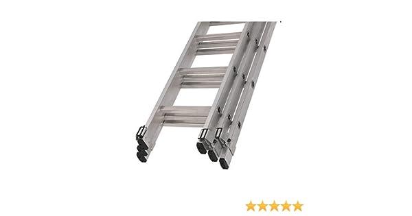 Youngman – Escalera extensible de triple 3 sección 3.37 – 8,3 m Trade 200 11 escalones: Amazon.es: Bricolaje y herramientas