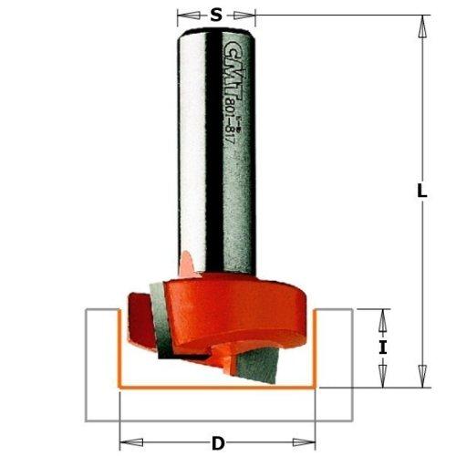 CMT Orange Tools 901.817.11 –  Erdbeere fü r Nutfrä ser HM S 12 D 31.7 x 12