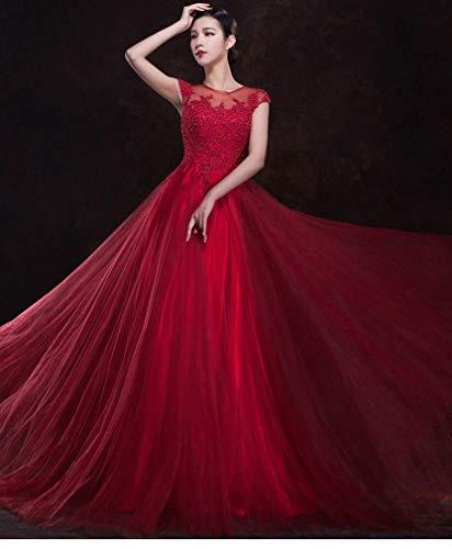 Lunga Dimensione Rosso Sposa Da Xs Bride Sera Summer Vino Oudan Sezione colore Rosso Abito Slim Xxl Wedding Toast n46WxE8UT