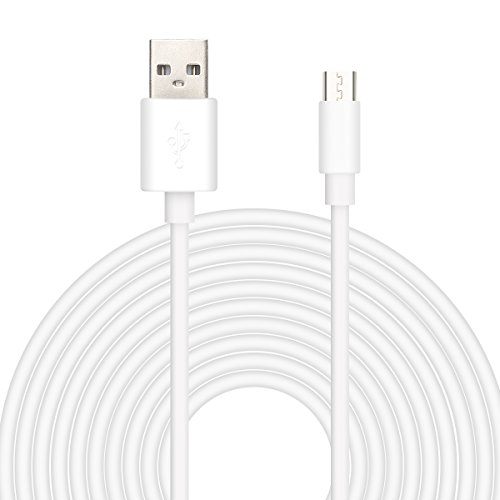 16.5ft USB Power Extension Cable Power Cord for Wireless Home Security Camera,WyzeCam,Yi Camera,Net Cam,Netvue,Arlo Q Cam,Blink Camera,Furbo Dog Camera,Amazon Cloud Cam,Oculus Go (16.5FT, White)