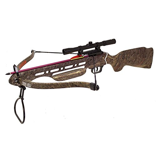 Hunting-Crossbows-150-lbs-Real-Wooden-Camo-Hunting-Crossbow-8-Arrows-Bolts-4×20-Scope-Crossbow-Bolts