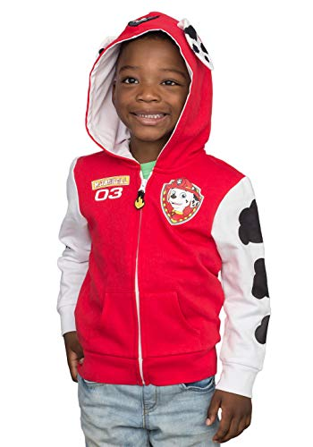 Paw Patrol Children I am Marshall Zip up Red Hoodie (Size 5/6T)]()