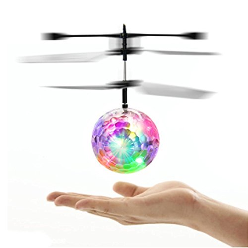 Flying Disco Ball- UPmall Rascal Mini Flying Ball, LED Flashing Helicopter Ball Built-in Shinning LED Lighting for Kids, - Glasses Disco Ball