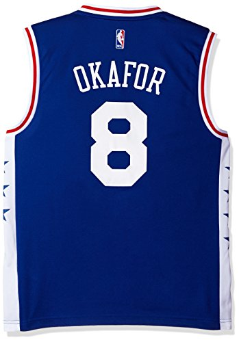 NBA Men's Philadelphia 76ers Jahlil Okafor Replica Player Road Jersey, X-Large, Blue
