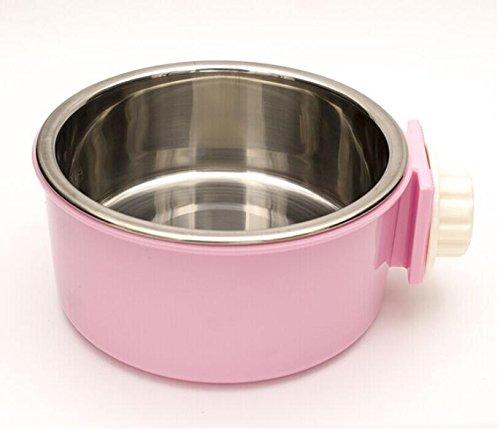 HFZLL Hängende Edelstahl pet Bowl Käfig Hund Käfig hängende Schüssel/Katze/Hund/Katze Wasser Schüssel essen Schüssel essen Schüssel Haustier versorgt