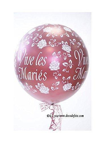 Belbal 1 balón gigante 90 cm Vive Les Mariés Burdeos: Amazon.es: Hogar
