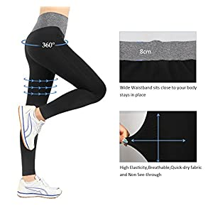 iLoveSIA 2PACK Women's Seamless Basic Ultra Soft Leggings Size L Black+Heather Grey