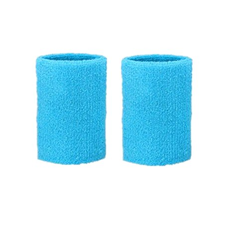 Kagogo 3 Inch Cotton Sports Wristband / Sweatband For Basketball Tennis And Other Sports, Price/Pair (Sky Blue)
