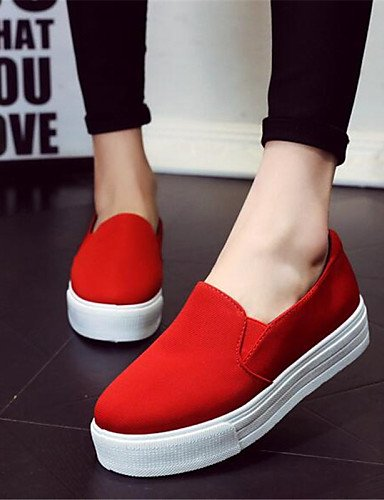 us6 Cn36 us9 Uk4 Zq mocasines creepers De Red Eu40 Uk7 Eu36 tela plataforma Gyht Casual Zapatos Cn41 Mujer negro Red exterior Rojo wWCwOU1nqx
