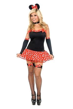 sc 1 st  Amazon.com & Amazon.com: Charades Womenu0027s Sexy Miss Mouse Costume Set: Clothing