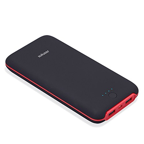 Soluser 24000mAh Ultra Hight Capacity Power Bank Dual 2.1A USB Outputs, Portable Charger External Battery Pack Phone Chargers for iPhone, iPad and Samsung Galaxy and More (Black)