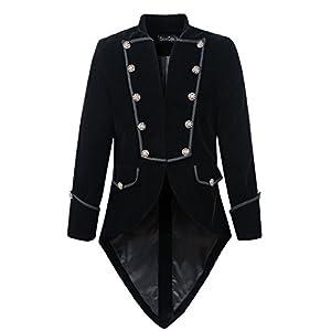 DarcChic Mens Steampunk Tailcoat Jacket Velvet Gothic VTG Victorian