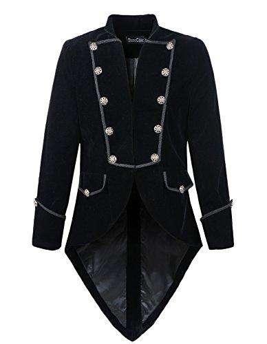 DarcChic Mens Steampunk Tailcoat Jacket Velvet Gothic VTG Victorian 3