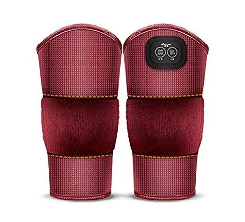 1組の電気暖房の膝パッド - 灸の熱い圧縮の理学療法の関節リウマチの古い冷たい足の振動のマッサージャー B07RLFPVHM