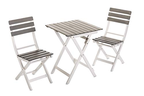 Sunset Garden SG45 | 3-Piece Dover Bistro Patio Set |, Grey & White