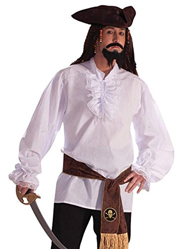 Forum Novelties Ruffled Vampire Costume Shirt, White, One Size