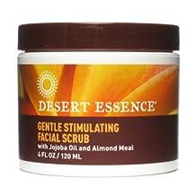 Pack of 2 x Desert Essence Facial Scrub Gentle Stimulating - 4 fl oz