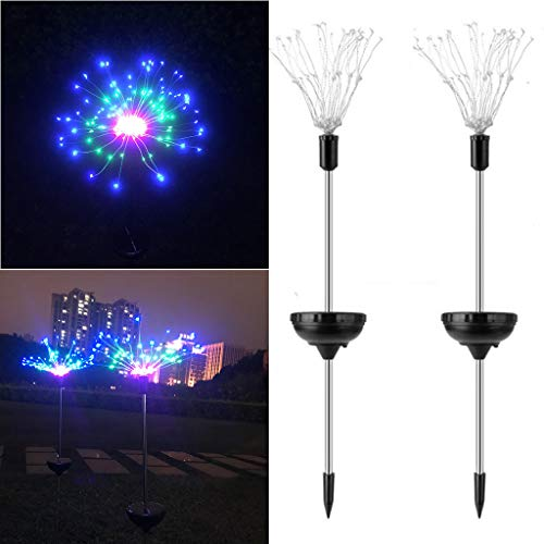 Gotian 90 LED Solar Power Garden Light Christmas Lights Outdoor Fireworks LED Lawn Lamp for Party Holiday Bedroom Home Garden Decor (Multicolor)
