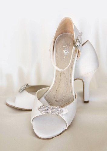 ANGELA NURAN Astoria high white luxe pumps - dyeable (11) by Angela Nuran