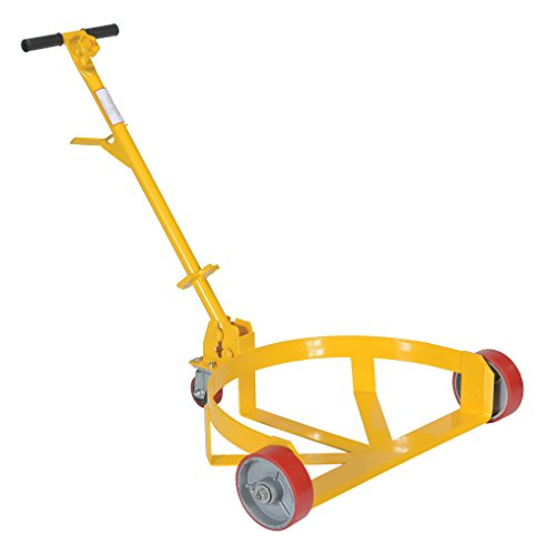 Vestil Lo Dc Pu Lo Profile Drum Caddie With Bung Wrench Handle And Poly On Steel Wheel Steel 21 5 8 Length 31 5 8 Width 37 5 8 Height 1200 Capacity