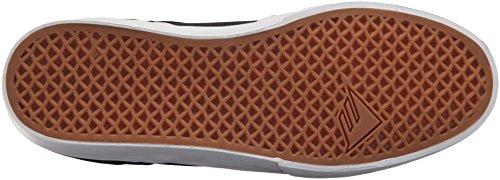 Emerica Men's The Reynolds Low Vulc Skate Shoe, Dark Grey Black, D(M) US Black/Brown