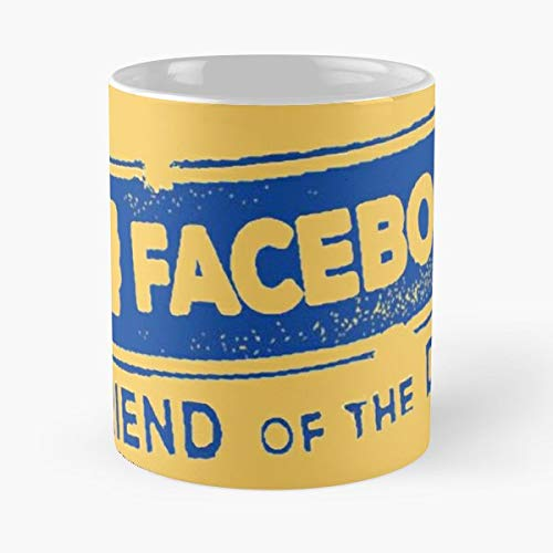Facebook Friend Of The Day Social Media Funny Floral Coffee Mugs Gifts (Best Funny Facebook Status Updates)