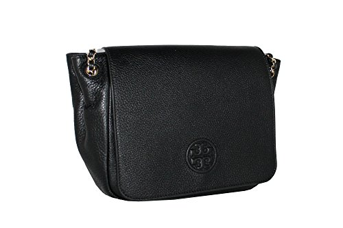 Women's 46176 Small Shoulder Tory Bombe Flap Black Handbag Bag Burch Oq47wP