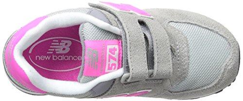 New Balance Kv574ciy-574, Zapatillas Altas Unisex Niños Multicolor (Grey/Pink 026)