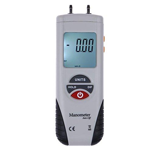 - Matefield LCD Digital Manometer Differential Air Pressure Meter Gauge 2Psi ±13.79Kpa