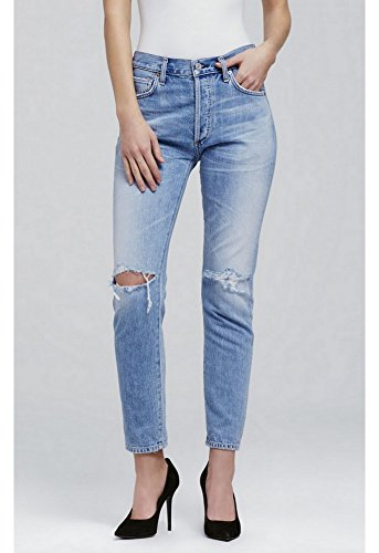 Citizens Of Humanity Classic Jeans (Citizens of Humanity Liya High Rise Classic Jean, Torn, 25)