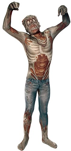 Morphsuits Kids Zombie Monster Costume - Small 3'-3'5 / 6-8 (Spandex Bodysuit Costume Ideas)