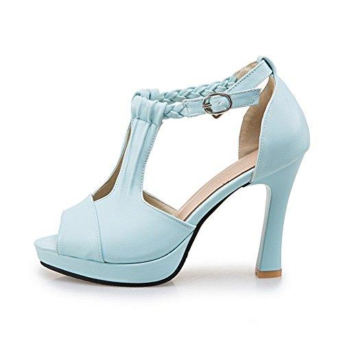 ASL04774 Sandals Heel Weight Womens Blue Light High Urethane Sandals BalaMasa 618qw0BT