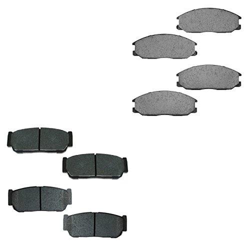 Ceramic Disc Brake Pad Set Front & Rear Kit for 03-09 Kia Sorento