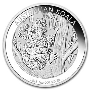 2013 Australia 1 oz Silver Koala Coin $1 Brilliant Uncirculated
