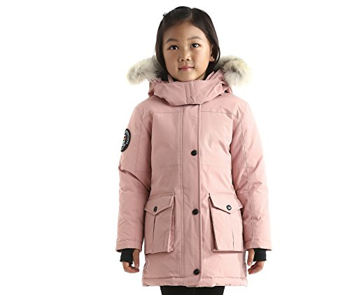 Triple F.A.T. Goose Madigan Girls Hooded Down Jacket Parka with Real Coyote Fur (6, Pink) by Triple F.A.T. Goose