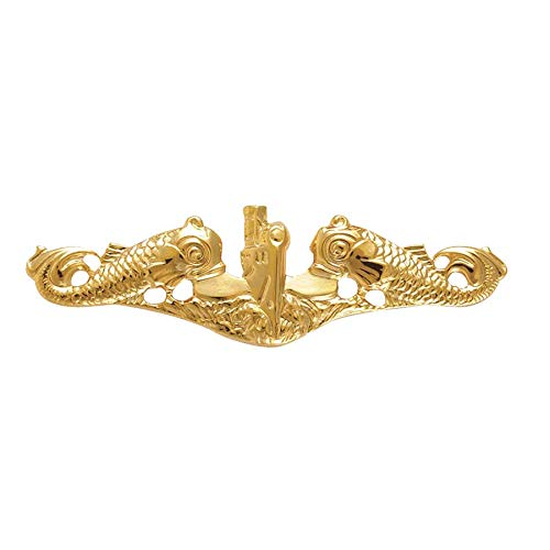 Miniature Officer - Medals of America Navy Badge Submarine Officer Miniature Gold
