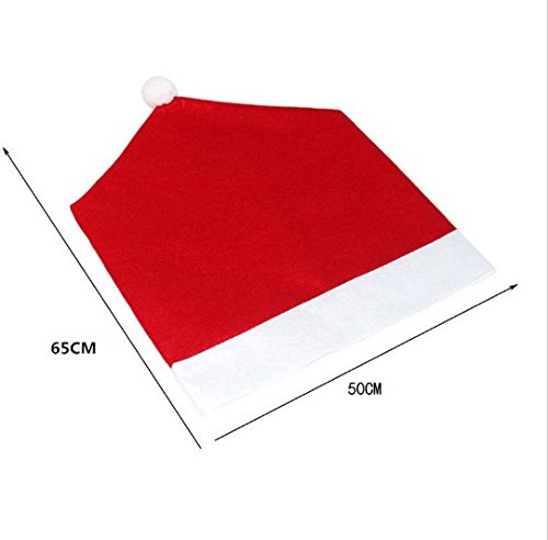 JCare 6 Pcs/Pack Santa Claus Red Hat Chair Covers Christmas Decoration Restaurant Kitchen Dining Table Decor Home Party by JCare (Image #2)