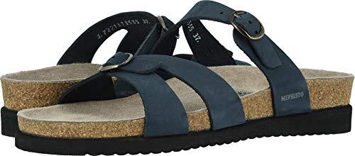 Mephisto Nubuck Sandals - Mephisto Women's Hannel Slide Sandal,Navy Sandalbuck,8 M US