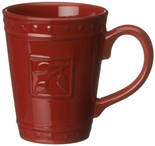 Antiqued Espresso Finish - Signature Housewares Sorrento Collection 14-Ounce Mug, Ruby Antiqued Finish