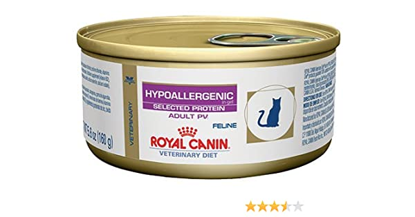 Amazon.com : Royal Canin Veterinary Diet Feline Hypoallergenic Potato & Venison (PV) Formula Canned Cat Food 24/5.6 oz case by Royal Canin Veterinary Diet ...