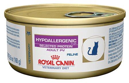 Royal Canin Veterinary Diet Feline Hypoallergenic Potato & Venison (PV) Formula Canned Cat Food 24/5.6 oz case by Royal Canin Veterinary Diet by Royal Canin
