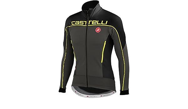 Castelli Mortirolo 3 - Chaqueta, color negro y amarillo ...