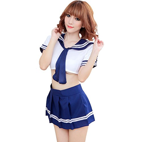 TTVOVO Sexy Lingerie Cosplay Halloween Girl Students Costume Fancy Dress Sailor Uniform Set