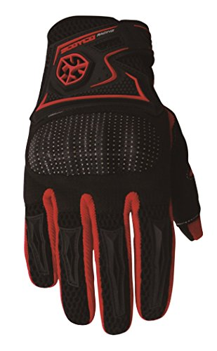CRAZY AL'S SCOYCO MC23 Gloves Professional Motorcycle Motocross Racing Full Finger Gloves Sportswear Cycling Outdoor Sports Gloves Red Black Blue M/L/XL/XXL (L, Red)